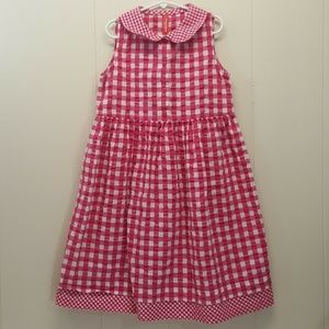 Hanna Andersson 130 Dress Pink Plaid Check Gingham